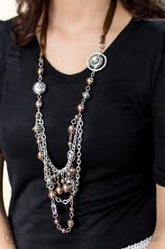 all necklace images Paparazzi blockbuster necklace all the trimmings brown debs jpg
