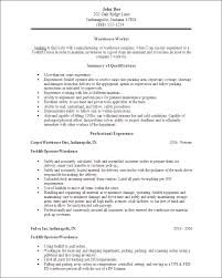 Warehouse Job Description For Resume by Warehouse Worker Resume Samples