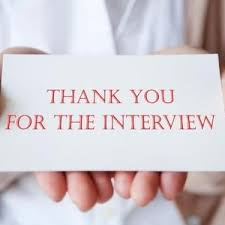 interview thank you note samples for your job search