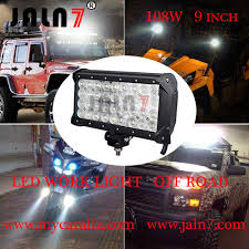 9 Led Light Bar by Led Work Light Led Light Bar 108w 9 Inch 4 Row Car Led Light Auto