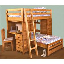 Modular Bunk Beds Trendwood Bunkhouse Bronco Loft Bed With Built In Desk
