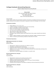 Sample Resume For Students In College by Amazing Resume Related To Accounting Photos Guide To The Perfect