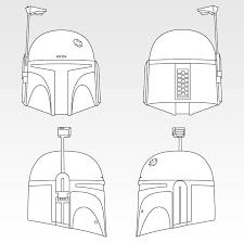 fett helmet vector drawing boba fett costume and prop maker