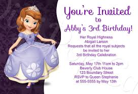 sofia the first birthday party invitations u2013 frenchkitten net