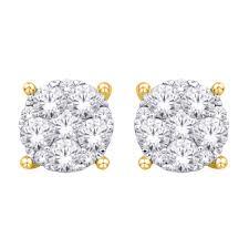 diamond studd 14k white gold 1 ct tw diamond studd earring sd28766y shirin