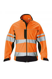 hi visibility two tone soft shell jacket with stretch tape
