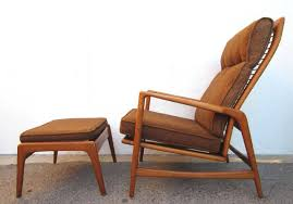 Mid Century Modern Danish Chair Wood 1950 Danish Mid Century Modern Lounge Chair And Ottoman Ib Kofod