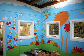 paper crafts for children seussical mural another of my murals is the forest lagoon mural