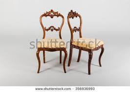 Antique Wooden Armchairs Antique Sofa Two Armchair Living Room Stock Photo 352934090