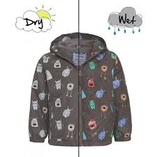 holly u0026 beau gray monster color changing raincoat ansley kids