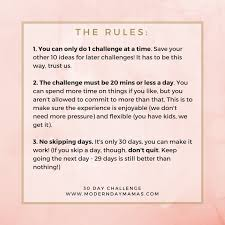 Of Challenge 30 Day Challenge Modern Day Mamas