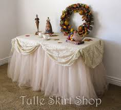 table table skirts for wedding horrifying tulle table skirts for