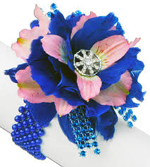 royal blue corsage vibrant royal blue pink corsage