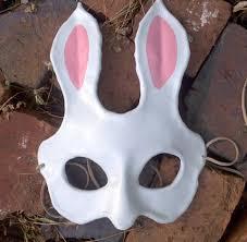 bunny mask leather bunny mask aradani costumes