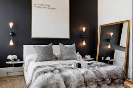 wall ls in bedroom black white and gray bedroom decorating ideas room image and