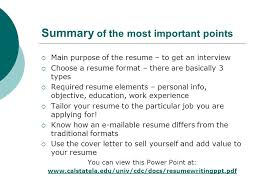 Tailor Resume To Job by Resume Writing Workshop Ppt Download