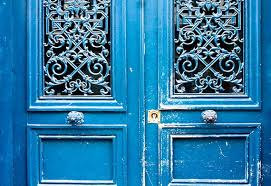 paris photography blue doors in paris france french home