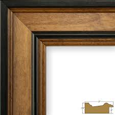 craig frames prairie classic 2 country brown wood picture frame
