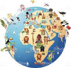 World Map Middle East by Cartoon Map Of World Stock Vector Art 159228610 Istock