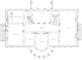 Mansion Blue Prints by First Floor White House Museum