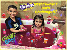 Challenge Water Filled Shopkins Water Bath Challenge Filled With Gelli Bath Pop