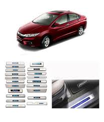 car models com honda city auto pearl stainless steel led footstep scuff plates honda