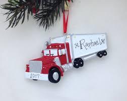 Semi Ornaments Truck Ornaments Etsy