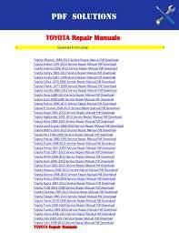 2013 toyota tacoma service schedule repair manuals toyota pdf