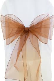organza sashes copper organza chair sashes bows ties wholesale