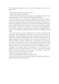 cover letter for hospitality cover letter for front end manager