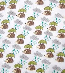 hedgehog wrapping paper snuggle flannel fabric hedgehogs in the joann