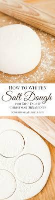 how to whiten salt dough salt dough ornament and ornament