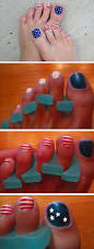 17 fourth of july toe nail designs for summer blupla