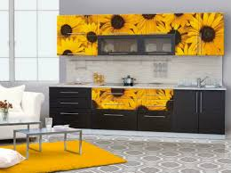 Sunflower Decorations Kitchen Design Mural Backsplash Sunflower Decorations For Kitchen