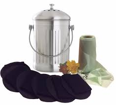stainless steel compost pail bundle goldsol brands stainless steel compost pail bundle