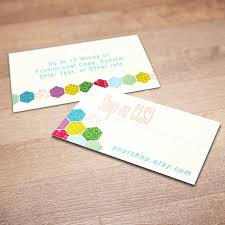 Personalized Business Cards 100 Custom Business Cards For Promoting Your Etsy Shop Patch