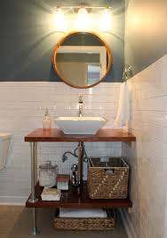 bathroom faucet ideas bathroom diy industrial bathroom lighting shelf shelves mirror