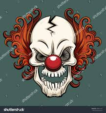evil scary clown halloween monster joker stock vector 408561739