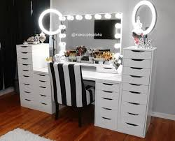 makeup vanity ideas for bedroom stylish and peaceful makeup vanity ideas ikea bedroom best 25 table