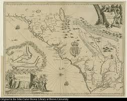 Map Of Carolinas A New Discription Of Carolina By Order Of The Lords Proprietors