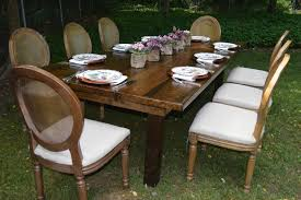 renting tables rustic elegance of event rentals unlimited farm tables and louis