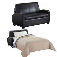 Black Leather Sleeper Sofa Faux Leather Sofa Beds Ebay