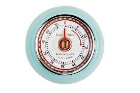 compte minute cuisine eddingtons magnétique style rétro minuteur cuisine bleu 55 min