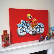 hungarian motorbike tin toy pop art print by glyn west design hungarian motorbike tin toy pop art print