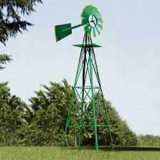 8ft ornamental garden windmill green and yellow www kotulas