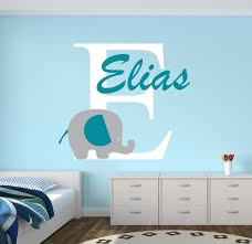 aliexpress com buy custom elephant name wall decal for boys boy aliexpress com buy custom elephant name wall decal for boys boy nursery wall decals decor vinyl 22x28inch from reliable name wall decals suppliers on acb
