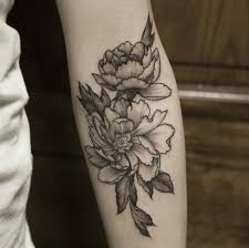 black and gray peonies by pam at white tiger in rochester ny