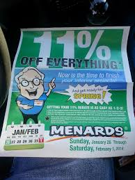 menards 14 off bag in your paper sunday 1 19 archive the