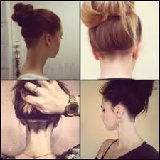 nape of neck hair cut for women wow digging the shaved nape a way to manage the excessively hairy