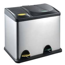 poubelle tri selectif cuisine poubelle inox de tri sélectif comprenant deux achat vente